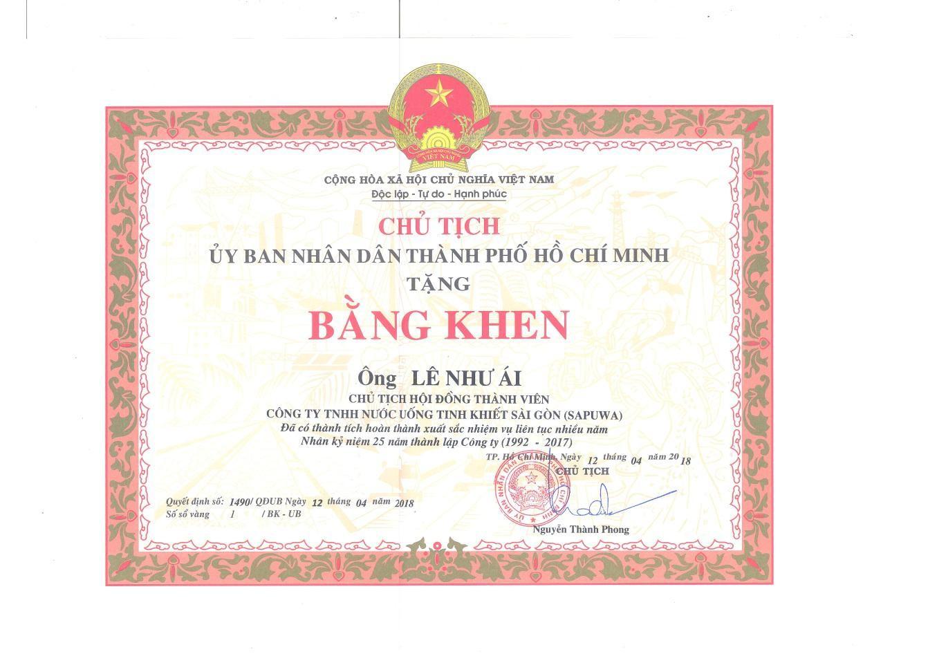 SAPUWA - Công Ty TNHH Nước Uống Tinh Khiết Sài Gòn