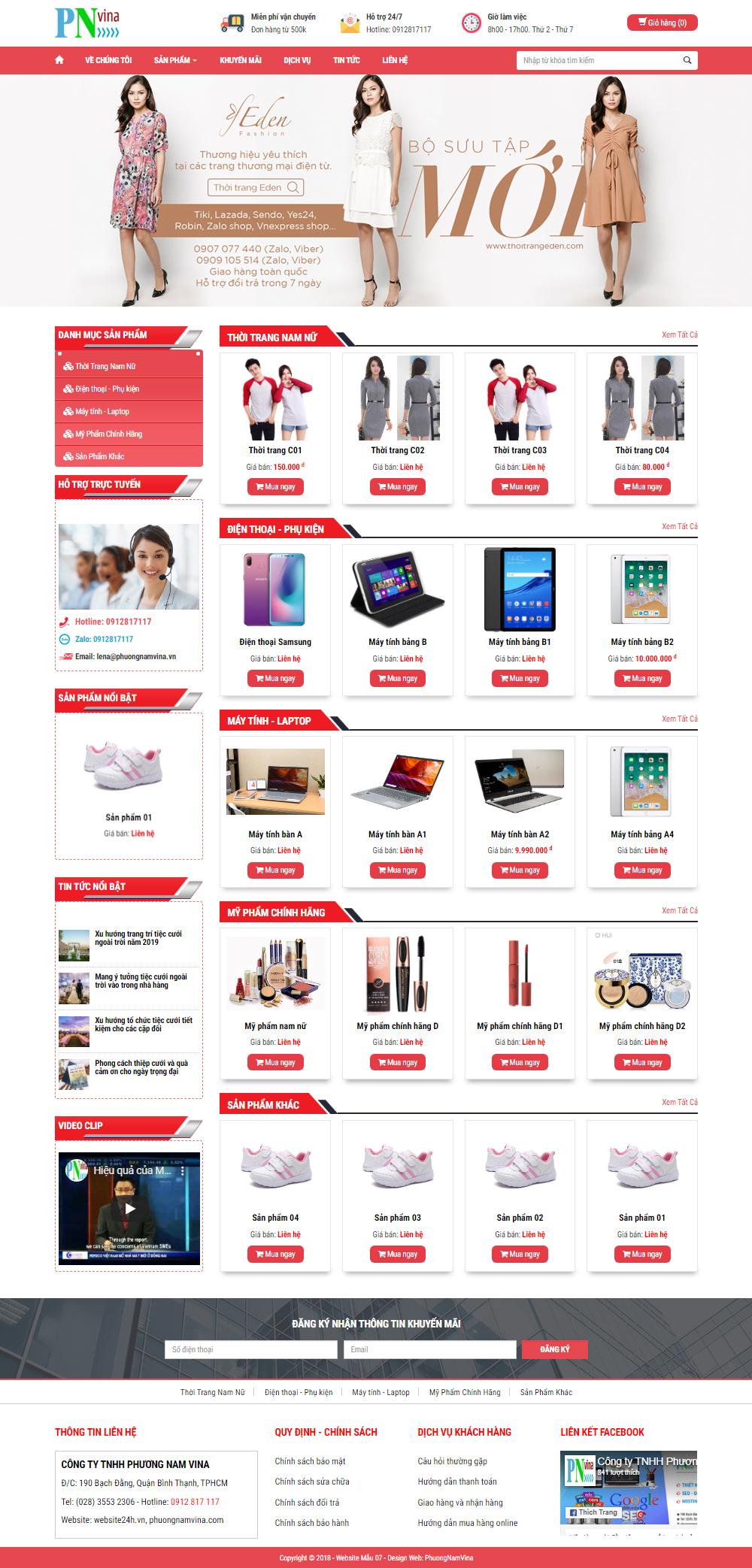Mẫu Website Giá Rẻ