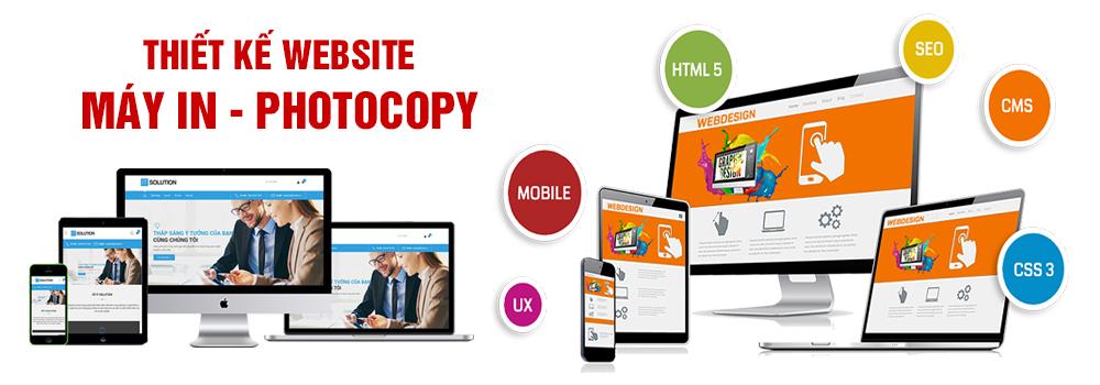 Thiết kế website máy in, máy photocopy