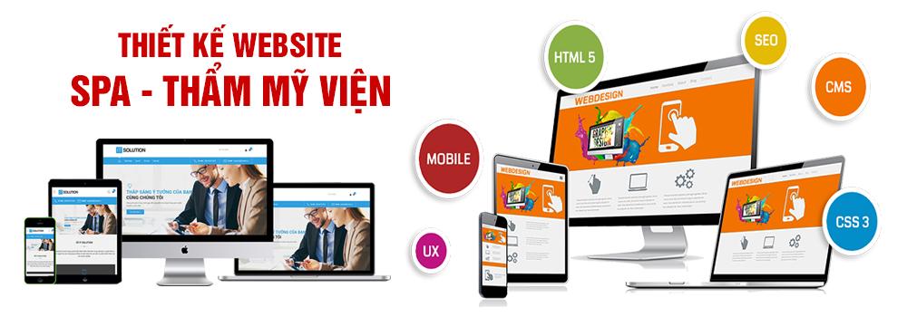 Thiết kế website spa, thẩm mỹ viện