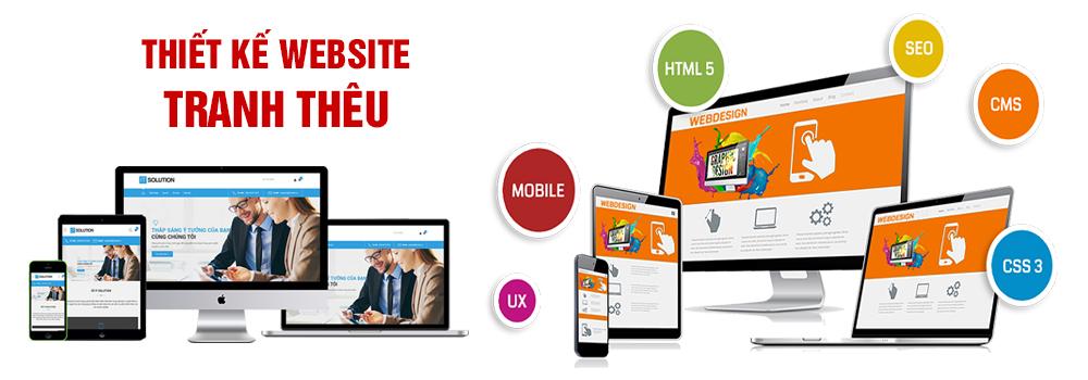 Thiết kế website tranh thêu