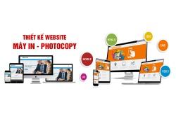 Thiết kế website máy in, photocopy